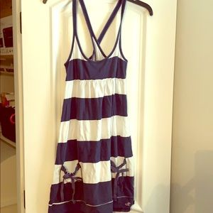 Hollister dress size Medium blue and white